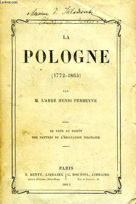 LA POLOGNE (1772-1865)