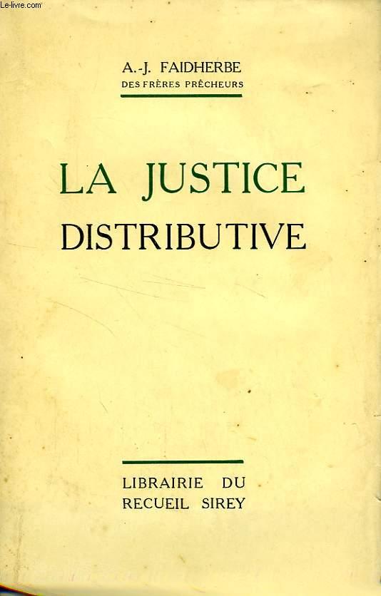 LA JUSTICE DISTRIBUTIVE