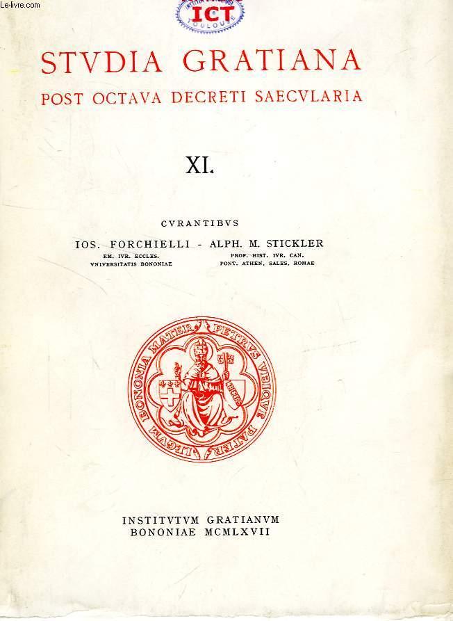 STUDIA GRATIANA POST OCTAVA DECRETI SAECULARIA, COLLECTANEA HISTORIAE IURIS CANONICI, TOMUS XI, COLLECTANEA STEPHAN KUTTNER I.