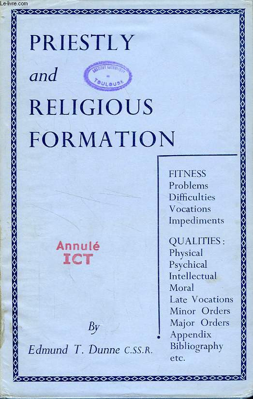 Canonical fitness for the religious priesthood