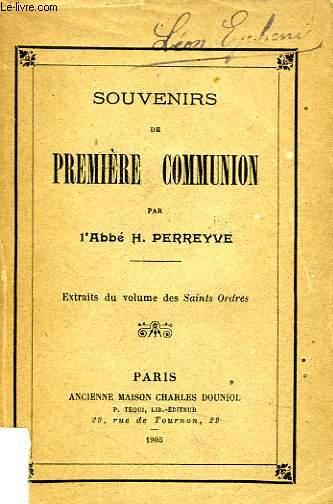 SOUVENIRS DE PREMIERE COMMUNION
