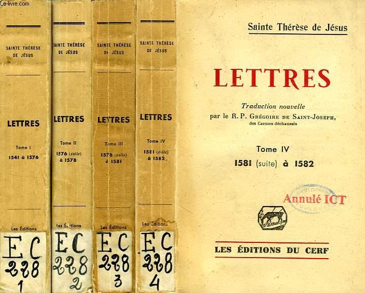 lettres 4 tomes sainte therese de jesus par g de saint joseph. Black Bedroom Furniture Sets. Home Design Ideas