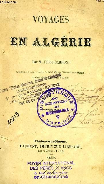 VOYAGES EN ALGERIE