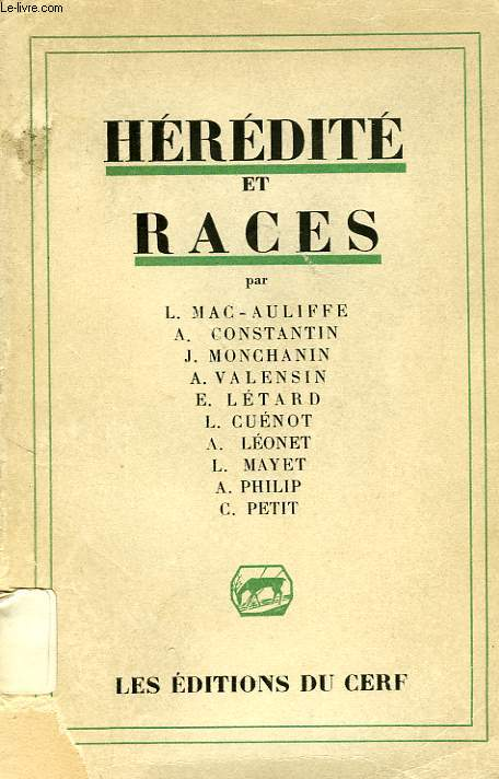HEREDITE ET RACES
