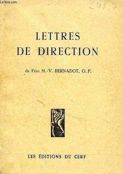 LETTRES DE DIRECTION