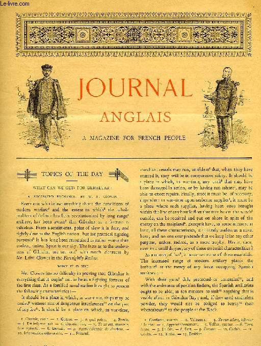 JOURNAL ANGLAIS, A MAGAZINE FOR FRENCH PEOPLE, 1re ANNEE, N° 16, 1er MARS 1893