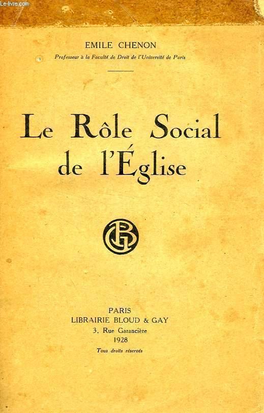LE ROLE SOCIAL DE L'EGLISE