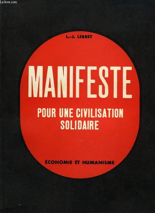 MANIFESTE POUR UNE CIVILISATION SOLIDAIRE