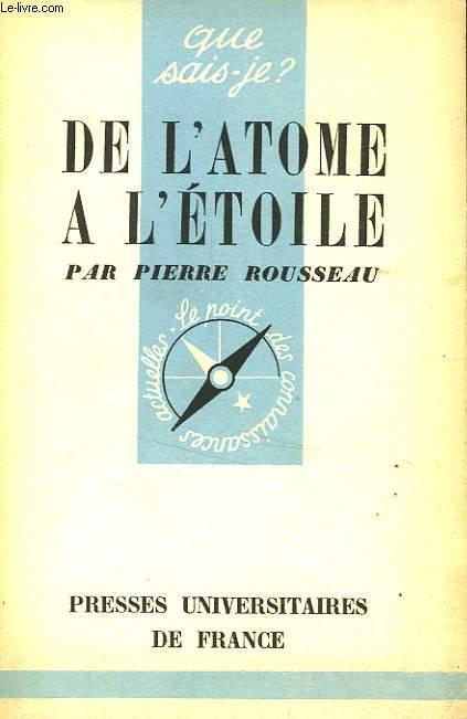 DE L'ATOME A L'ETOILE