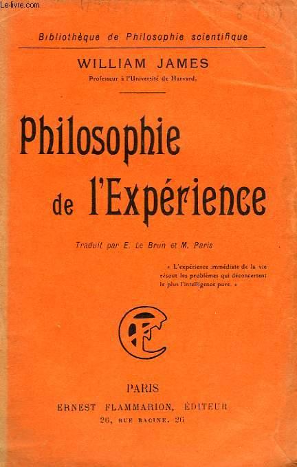 PHILOSOPHIE DE L'EXPERIENCE