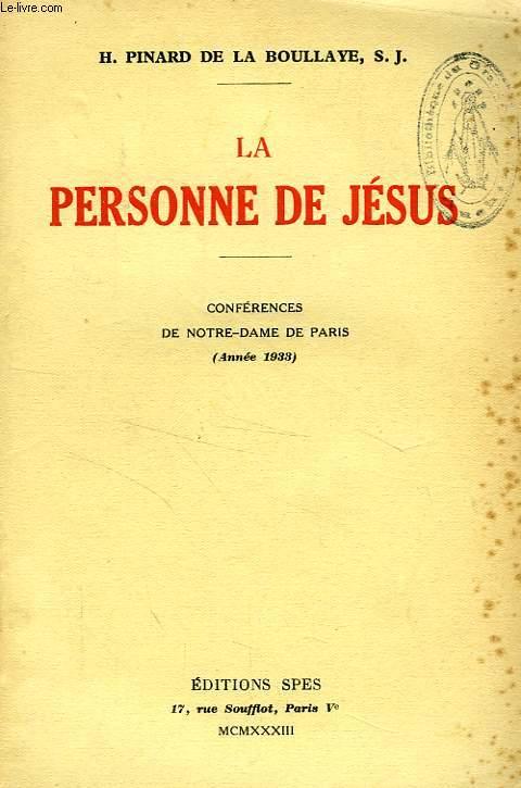 LA PERSONNE DE JESUS