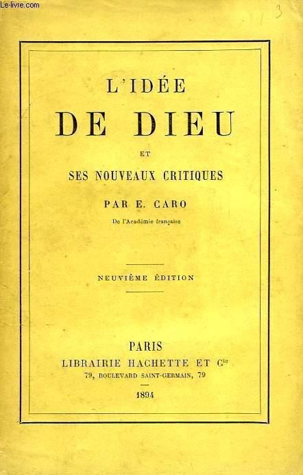 L'IDEE DE DIEU ET SES NOUVEAUX CRITIQUES