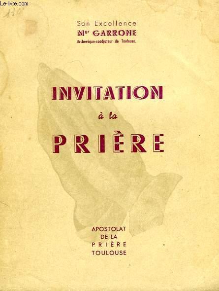 INVITATION A LA PRIERE
