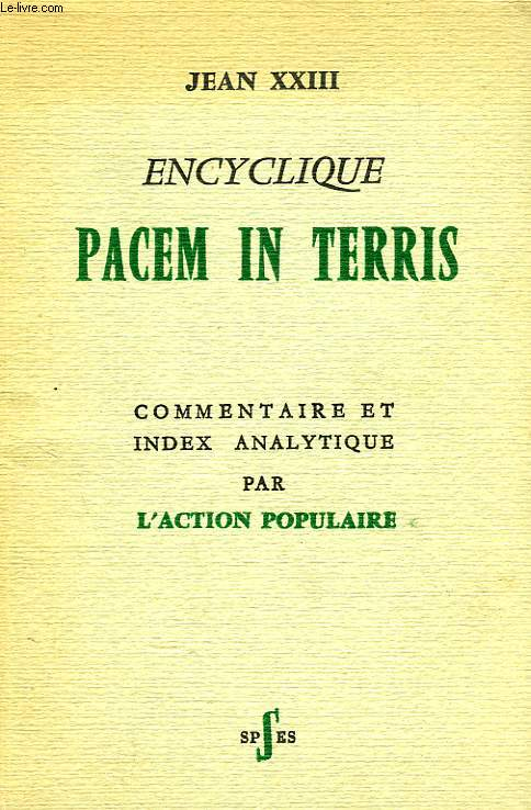 ENCYCLIQUE PACEM IN TERRIS