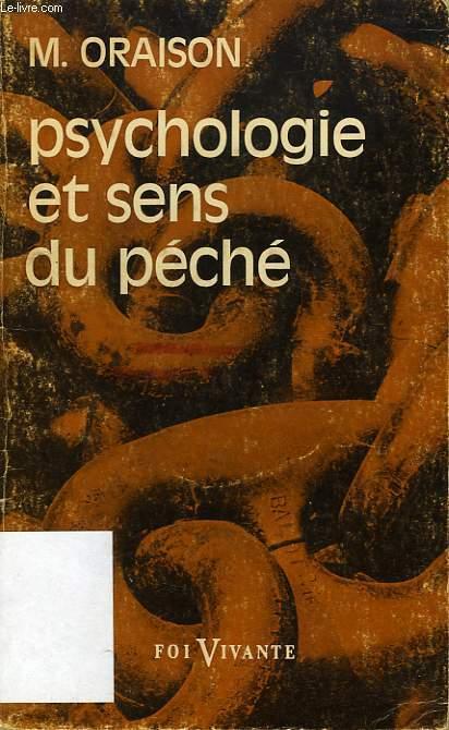 PSYCHOLOGIE ET SENS DU PECHE