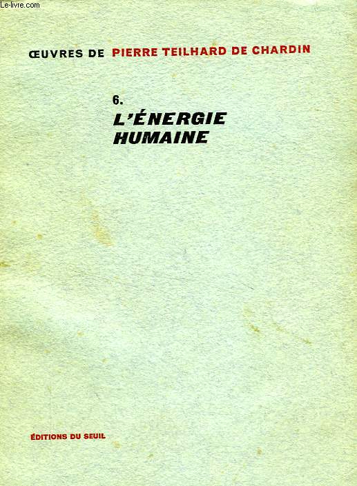 L'ENERGIE HUMAINE