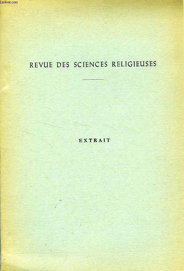 REVUE DES SCIENCES RELIGIEUSES, EXTRAIT, NOTE D'EXEGESE, CANTIQUE DES CANTIQUES, 1,3: INTRODUXIT ME REX IN CELLARIA SUA