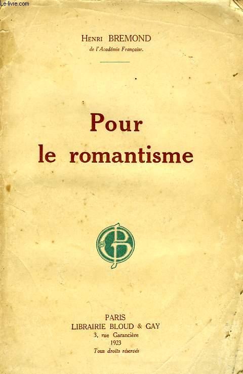 POUR LE ROMANTISME