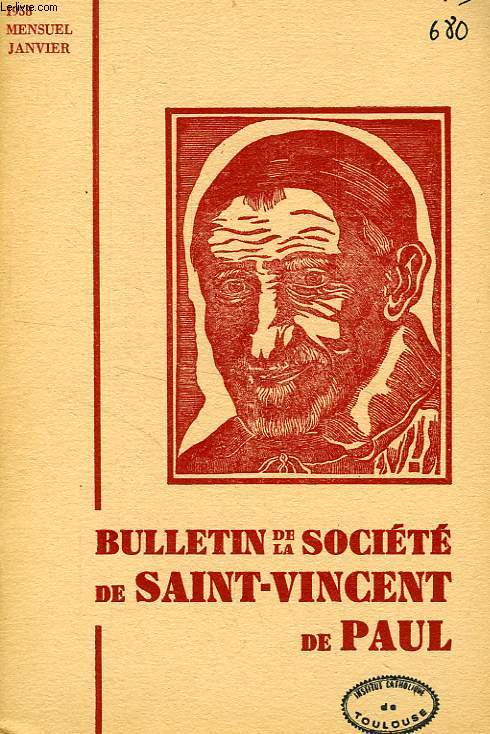BULLETIN DE LA SOCIETE DE SAINT-VINCENT-DE-PAUL, NOUVELLE SERIE, JAN. 1958