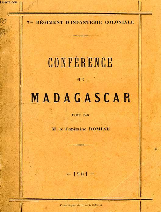 CONFERENCE SUR MADAGASCAR