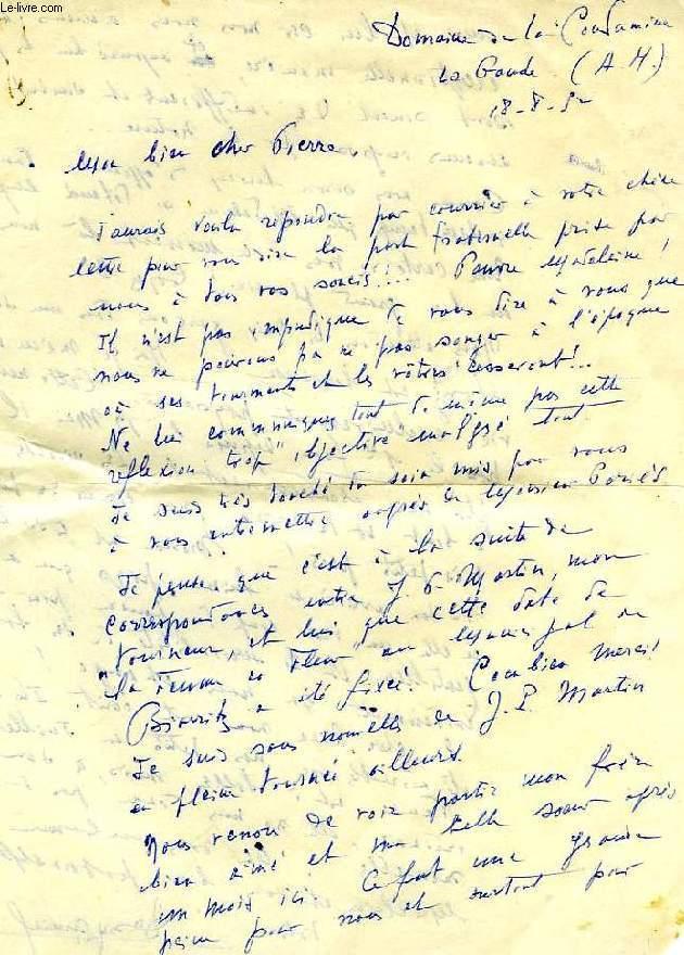 correspondance de denys amiel dossier de 6 lettres manuscrites 2 photos 1 article extrait. Black Bedroom Furniture Sets. Home Design Ideas