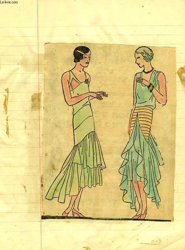 Cahier d ecoliere album de peinture la mode 1920 1930 for Peinture a la mode