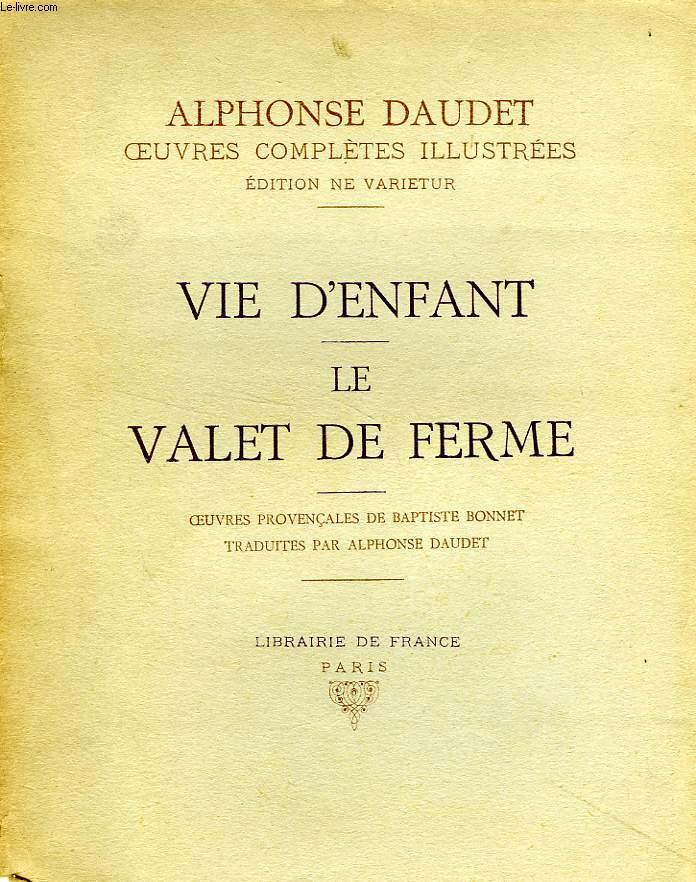 VIE D'ENFANT, LE VALET DE FERME