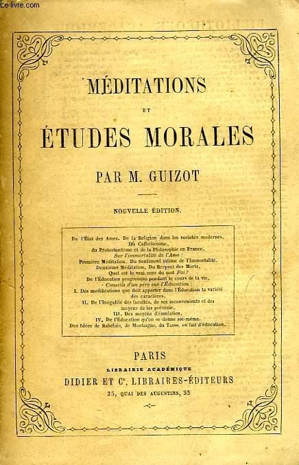 MEDITATIONS ET ETUDES MORALES
