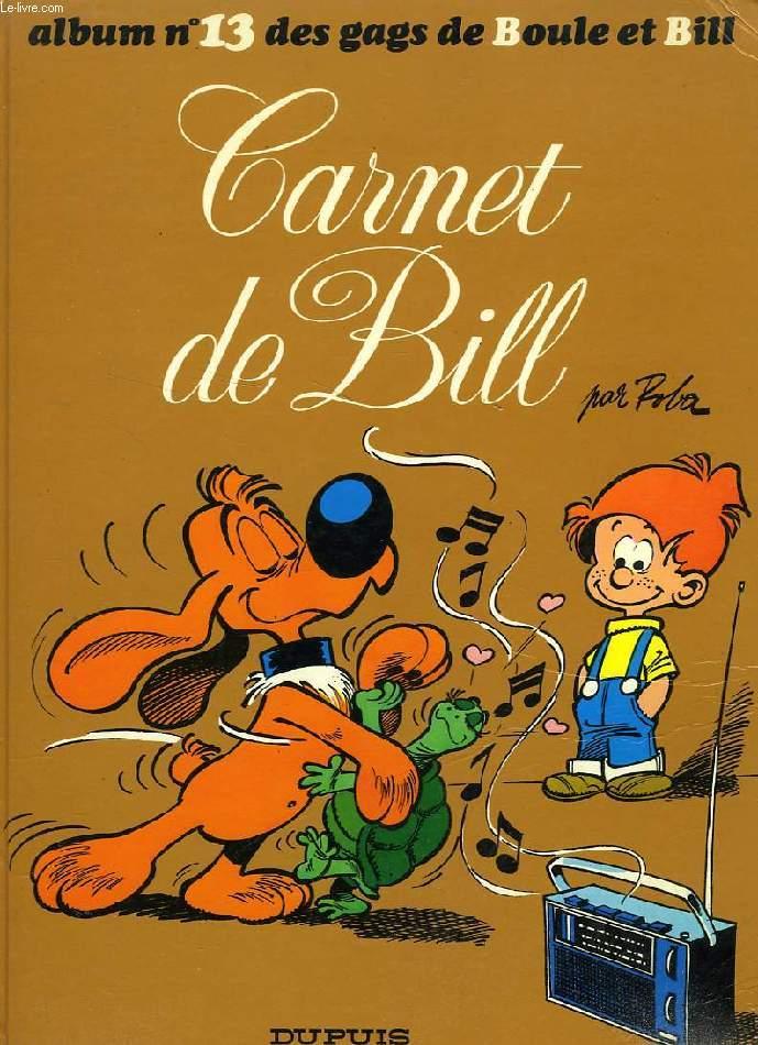 BOULE ET BILL, N° 13, CARNET DE BILL