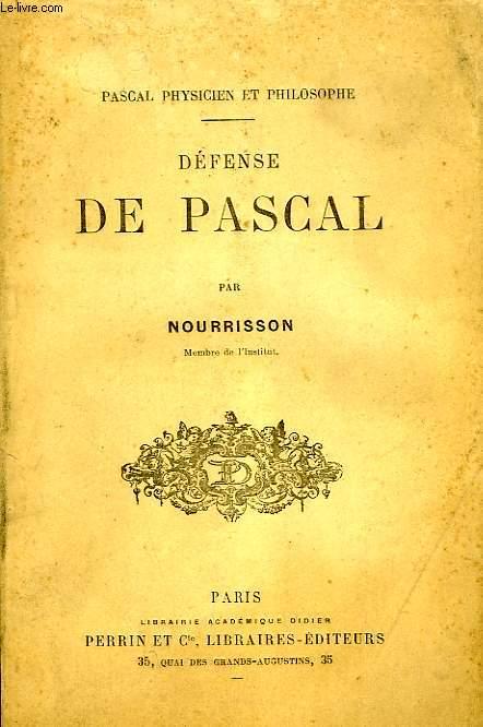DEFENSE DE PASCAL