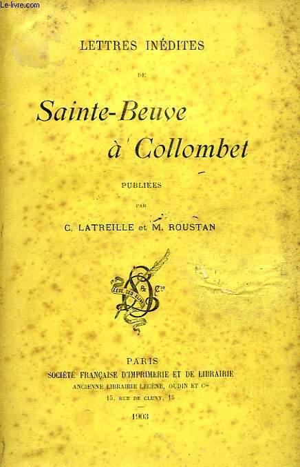 LETTRES INEDITES DE SAINTE-BEUVE A COLLOMBET