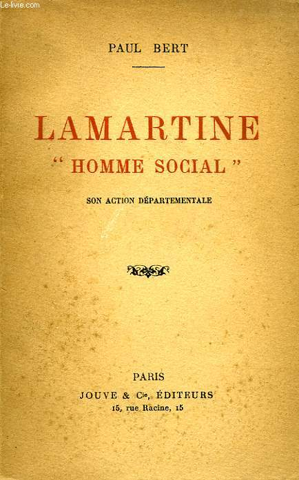 LAMARTINE, 'HOMME SOCIAL'