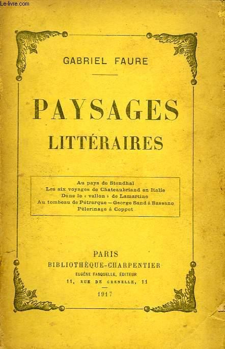 PAYSAGES LITTERAIRES