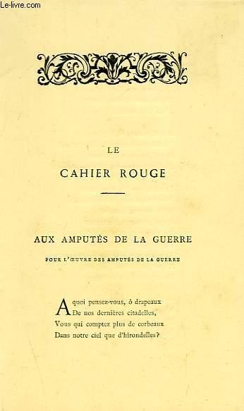 OEUVRES DE FRANCOIS COPPEE, POESIES (LE CAHIER ROUGE)