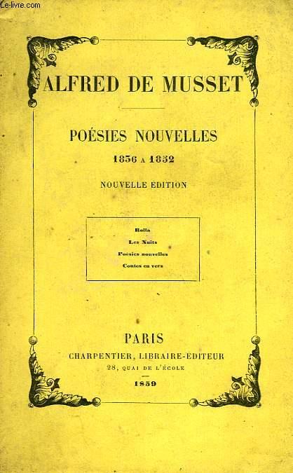 POESIES NOUVELLES, 1836-1852