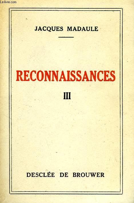 RECONNAISSANCES, TOME III