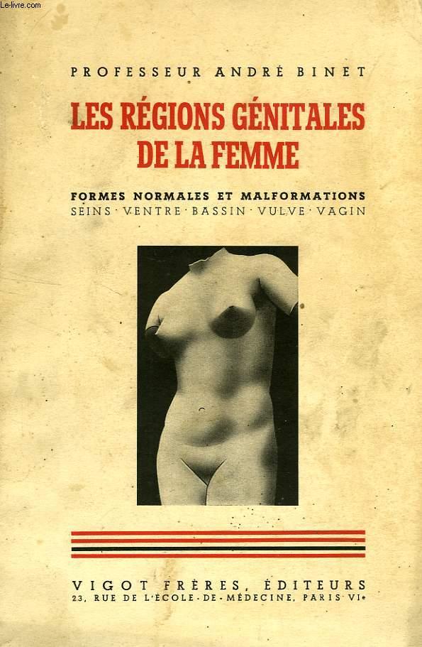 LES REGIONS GENITALES DE LA FEMME, SEINS, VENTRE, BASSIN, VUVLE, VAGIN, FORMES NORMALES ET MALFORMATIONS