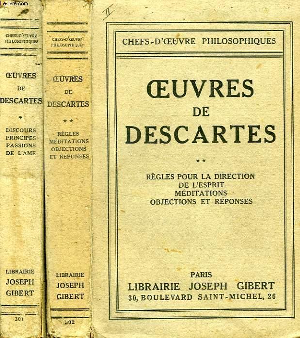 OEUVRES DE DESCARTES, 2 TOMES