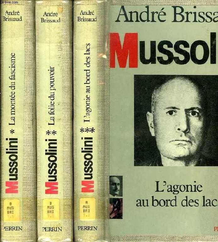 MUSSOLINI, 3 TOMES