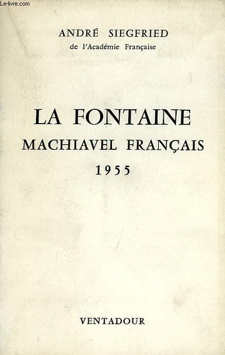 LA FONTAINE, MACHIAVEL FRANCAIS
