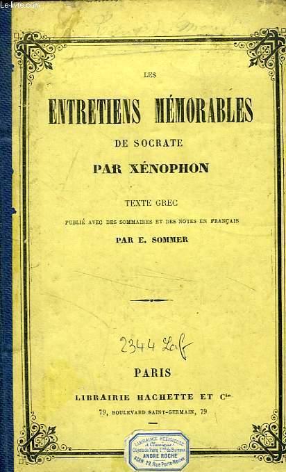 LES ENTRETIENS MEMORABLES DE SOCRATE