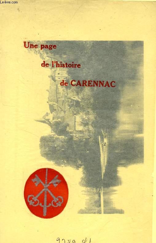 LETTRE DE FENELON A LA MARQUISE DE MAGNAC-LAVAL SUR SON ENTREE A CARENNAC