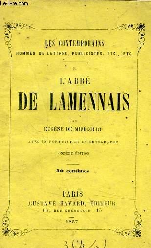 L'ABBE DE LAMENNAIS