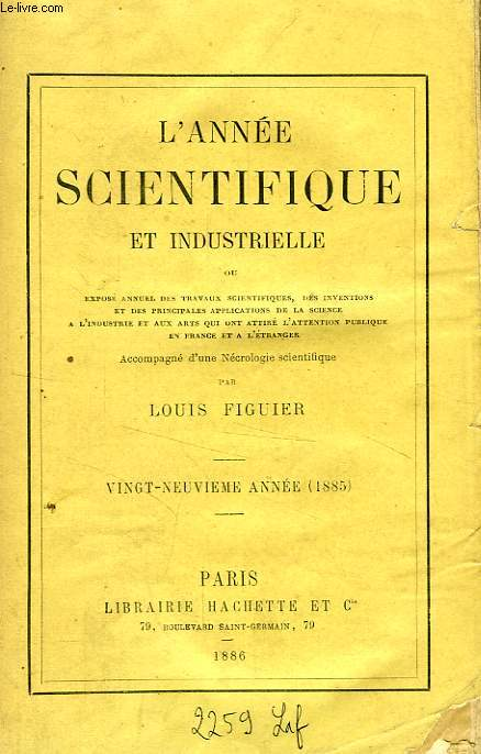 L'ANNEE SCIENTIFIQUE ET INDUSTRIELLE, 29e ANNEE (1885)