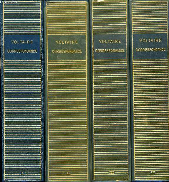 CORRESPONDANCE, 4 TOMES (1704-1757)