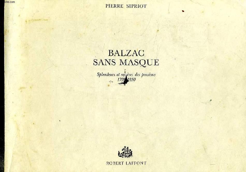 BALZAC SANS MASQUE