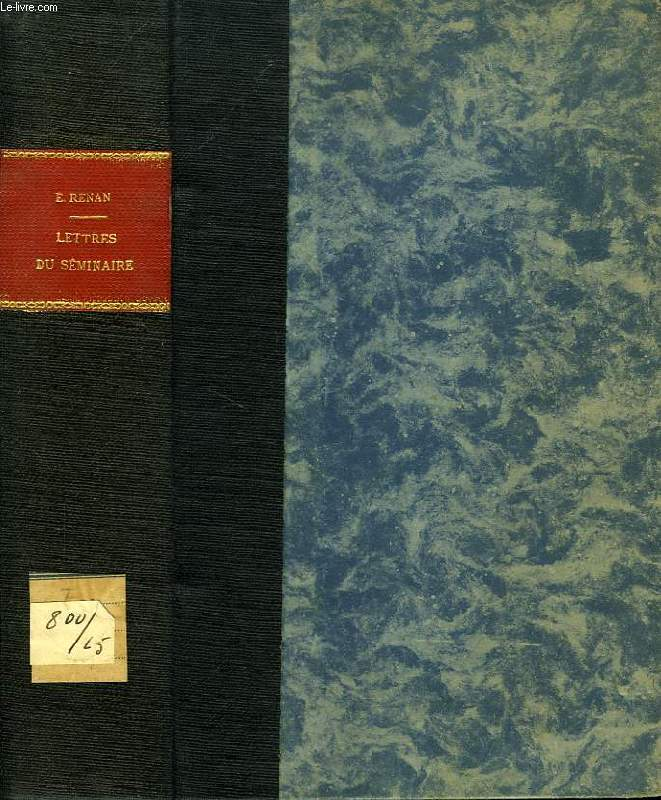 LETTRES DU SEMINAIRE, 1838-1846