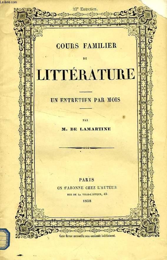 COURS FAMILIER DE LITTERATURE, XXXIIIe ENTRETIEN, POESIE LYRIQUE, DAVID (2e PARTIE)