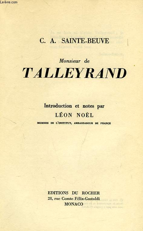 MONSIEUR DE TALLEYRAND