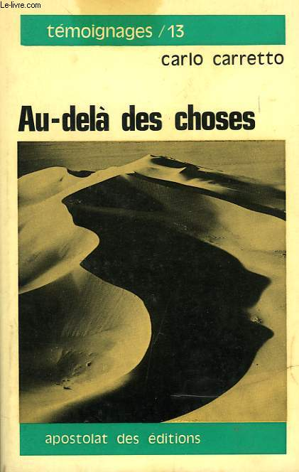 AU-DELA DES CHOSES